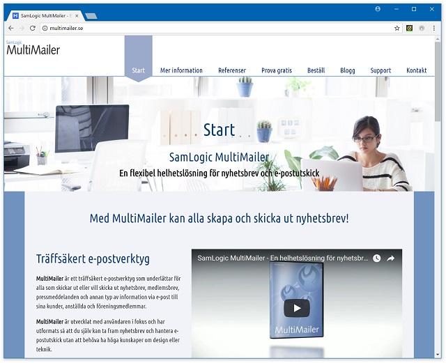 Ny hemsida för MultiMailer