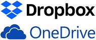 Logotyper - Dropbox och OneDrive