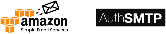 Logotyper - Amazon och AuthSMTP