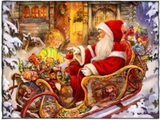 Jultomten på släde