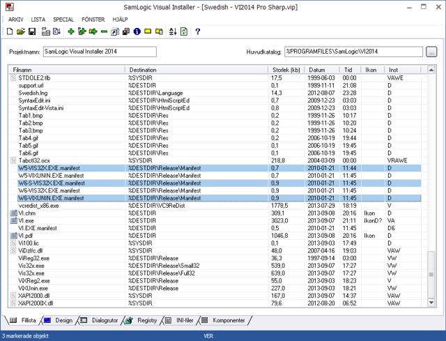 Visual Installer - Användargränssnitt - Tema 2