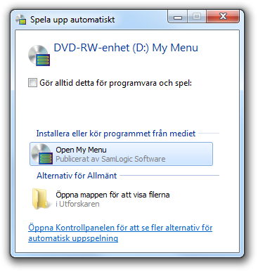 windows hittar inte dvd spelaren